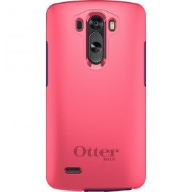 capa symmetry otterbox para lg g3 rosa traseira