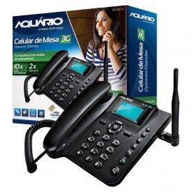 Caixa e Aparelho Telefone Celular de Mesa Aquário CA-40 3G