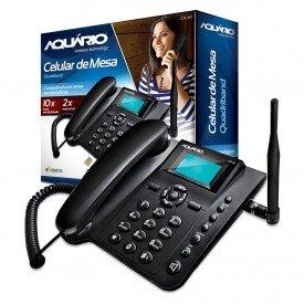 Caixa e Aparelho Telefone Celular de Mesa Aquário CA-40
