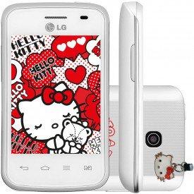 Frente Lado e Traseira do LG Optimus L1 II E475 Hello Kitty