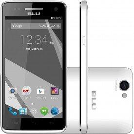 Frente Lado e Traseira do Smartphone Blu Studio C 5.0 HD Branco