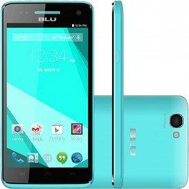 Frente Lado e Traseira do Smartphone Blu Studio C 5.0 HD Azul