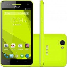 Frente Lado e Traseira do Smartphone Blu Studio C 5.0 HD Amarelo