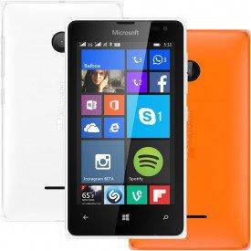 Lumia 532 Branco Capa Laranja