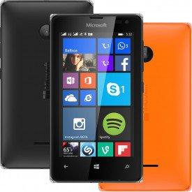 Lumia 532 Preto Capa Laranja