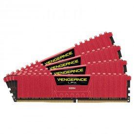 Kit de Memória Corsair DDR4 Vengeance LPX 16GB Vermelho
