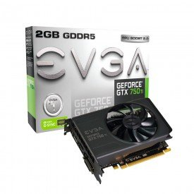 Placa de vídeo EVGA GeForce GTX 750TI 2GB 02G-P4-3751-KR