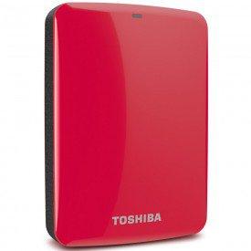 HD Externo Portátil Toshiba Canvio Connect 2TB Vermelho
