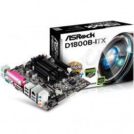Placa Mãe ASRock D1800B ITX Mini ITX Intel Dual Core J1800