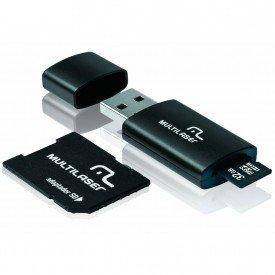 Cartão de Memória Multilaser 32GB MC113 Classe 10 com Kit Adaptador