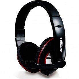 Headset Bright Sol Negro 0171 Preto / Vermelho