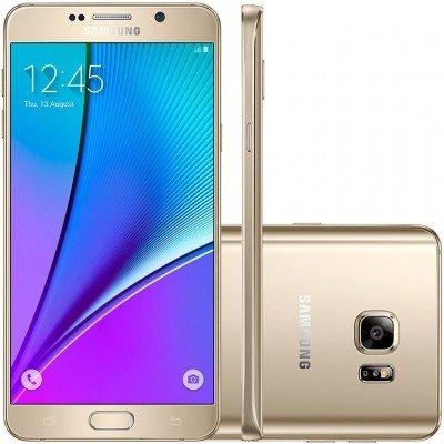 Celular Smartphone Samsung Galaxy Note 5 N920g 32gb Dourado - 1 Chip