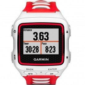 Relógio GPS Garmin Forerunner 920XT Branco/Vermelho
