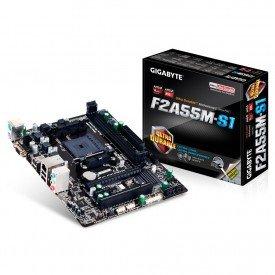 Placa Mãe Gigabyte Micro ATX para AMD FM2+ GA-F2A55M-S1