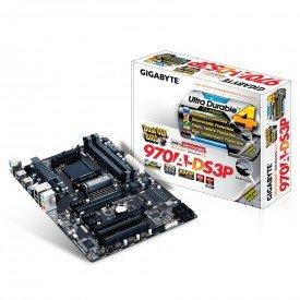 Placa Mãe Gigabyte ATX para AMD AM3+ GA-970A Caixa