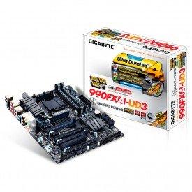 Placa Mãe Gigabyte ATX para AMD AM3+ GA-990FXA-UD3
