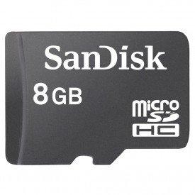 Micro SD Sandisk 8GB Preto