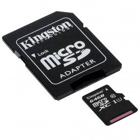 Micro SDXC Kingston 64GB Class 10
