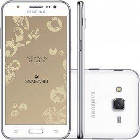 Smartphone Galaxy J5 com Pulseira Branco