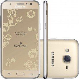Smartphone Galaxy J5 com Pulseira Dourado