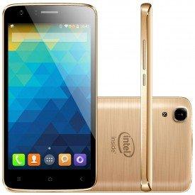 Smartphone Qbex X-Gold W509 Dourado