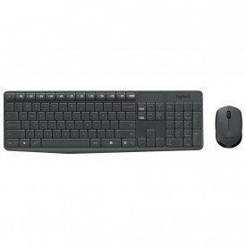 Teclado e Mouse Logitech Wireless MK235