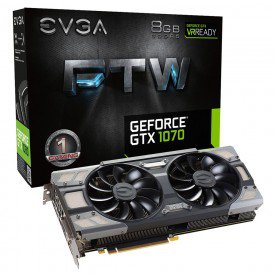 Placa de Vídeo EVGA GeForce GTX 1070 FTW Gaming 8GB