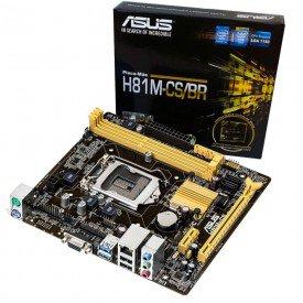 Placa mãe Asus H81M-CS/BR