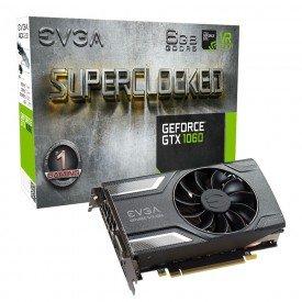 Placa de Vídeo EVGA GTX 1060 SC Gaming 6GB