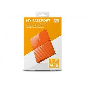 Caixa HD Externo WD Western Digital WDBYNN0010BOR-WESN laranja