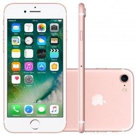 smartphone apple iphone 7 256gb desbloqueado rosa