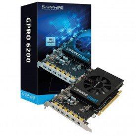 embalagem e placa de video sapphire gpro 6200