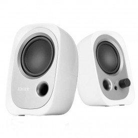 caixa de som para pc edifier 20 estereo r12u branco