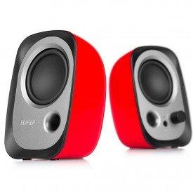 caixa de som para pc edifier 20 estereo r12u vermelho