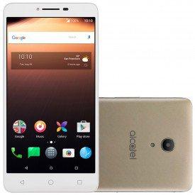 Vitrine Smartphone Alcatel A3 XL Branco Dourado