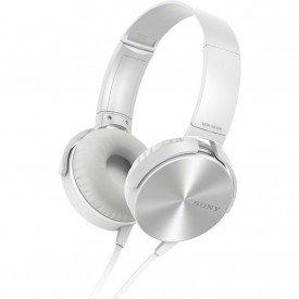 fone de ouvido headphone sony extra bass mdr xb450ap branco
