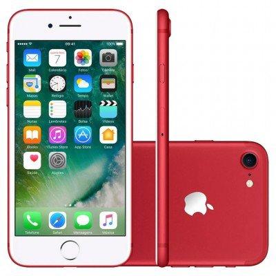 smartphone apple iphone 7 128gb desbloqueado red