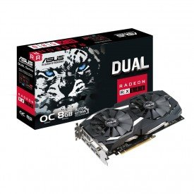 principal placa de video asus radeon rx 580 oc edition 8gb dual rx580 o8g