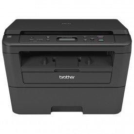 frontal impressora multifuncional brother laser mono dcp l2520dw preto