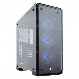 principal gabinete gamer corsair crystal series 570x rgb mid tower cc 9011098 ww preto