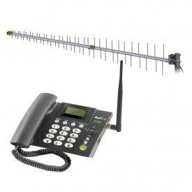 kit proeletronic telefone celular dual chip antena cabo 16m prokd6000 preto