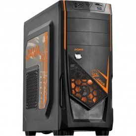 Gabinete Gamer PcYes Java Mid Tower Laranja
