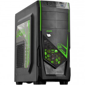 Gabinete Gamer PcYes Java Mid Tower Verde
