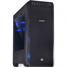 Gabinete Gamer PcYes Knight Mid Tower Preto LED Azul
