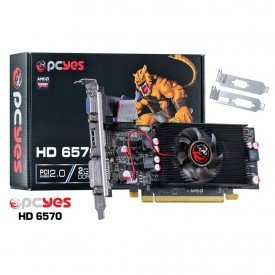 placa de video pcyes 6570 2gb ddr5 128bits ps657012802d5lp caixa