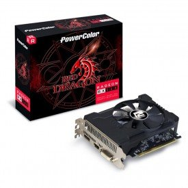 Caixa Placa de Vídeo PowerColor Radeon RX 560 Red Dragon 2GB OC