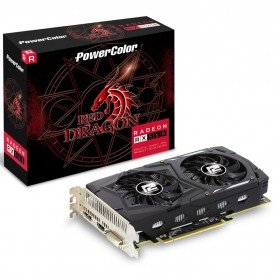 caixa placa de video powercolor radeon rx 560 red dragon 4gb oc