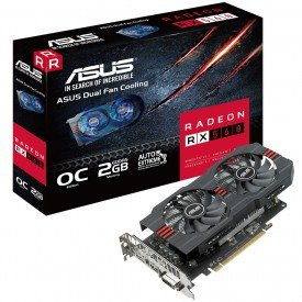 Caixa Placa de Vídeo Asus Radeon RX 560 OC Edition 2GB
