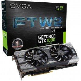 Caixa Placa de Vídeo EVGA GeForce GTX 1080 8GB FTW2 DT Gaming