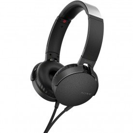 lateral fone de ouvido sony extra bass mdr xb550ap preto